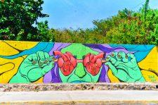 Street art of Isla Mujeres Quintana Roo Mexico 1