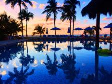 Sunset at Pool at Nauti Beach Condos Isla Mujeres Quintana Roo Mexico from FIAB 1