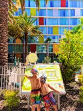 Taylor Family by pool at Universal Cabana Bay Resort Orlando Florida 7