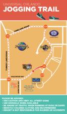 Universal Orlando Resort running route