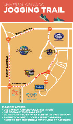 Universal Orlando Resort running route