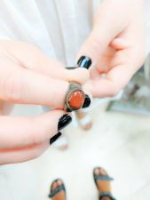 Buying Carnelian Silver ring in Old Town Dubrovnik Croatia 1
