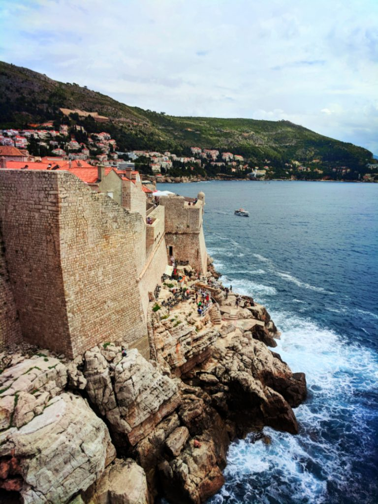 Buza Bar from top of Old City Wall Old Town Dubrovnik Croatia 1
