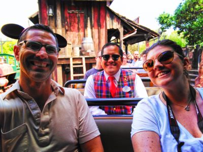 Chris Taylor and Friends with VIP Tour guide on Big Thunder Mountain Frontierland Disneyland 1