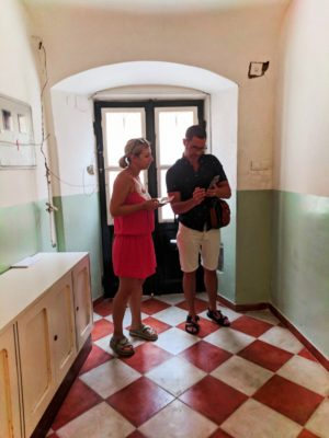 Chris Taylor with Apartman host in Old Town Dubrovnik Croatia 1