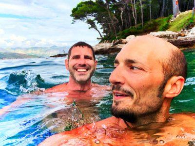 Chris-and-Rob-Taylor-swimming-at-Lokrum-Island-Dubrovnik-Croatia-2-400x301.jpg