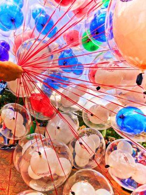 Colorful balloons at Disneyland 1