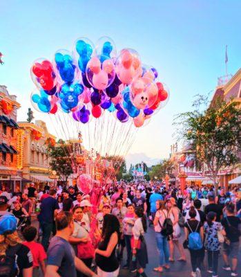 Colorful balloons at Disneyland on Main Street USA 1