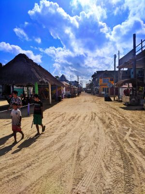 Downtown Holbox dirt roads Isla Holbox Yucatan 1