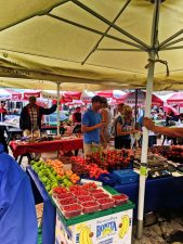 Farmers market in Stradum at Jesuit Steps Old Town Dubrovnik Croatia 1