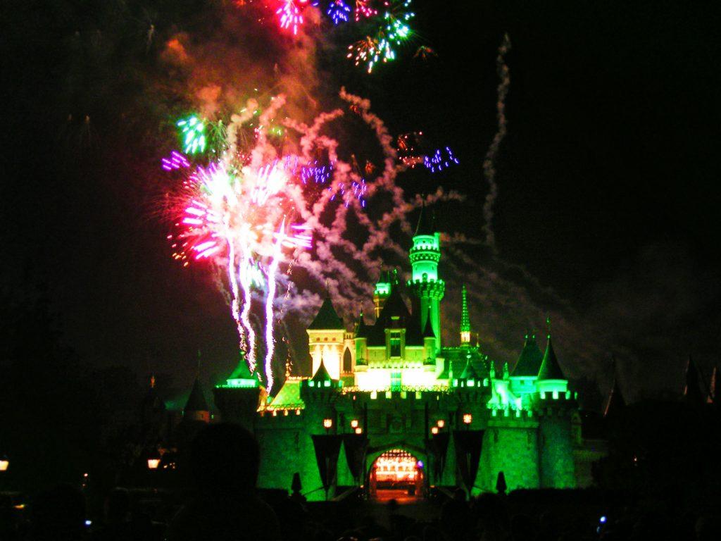 Fireworks in the Sleeping Beauty Castle Disneyland 3