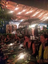 Group dinner at Luuma Isla Holbox Yucatan 2