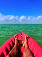 Kayaking in the Caribbean off Isla Holbox Yucatan 1
