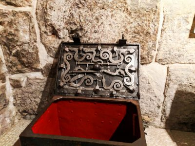 Medieval Treasure Chest at Rectors Palace Museum Old Town Dubrovnik Croatia 1