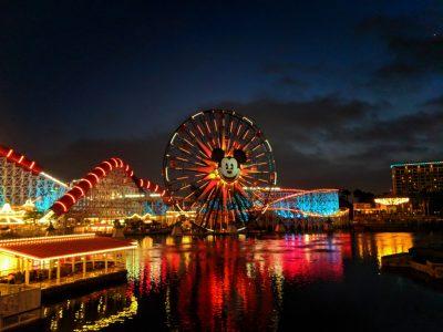 Pixar Pier at night Disneys California Adventure 2