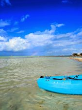 Rainbow while kayaking off Isla Holbox Yucatan 1b