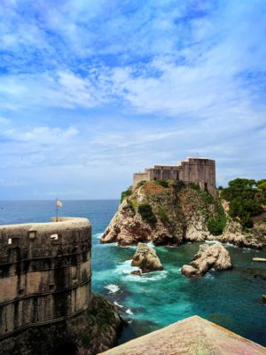 Red Keep Fort Lovrijenac from City Wall Old Town Dubrovnik Croatia 1