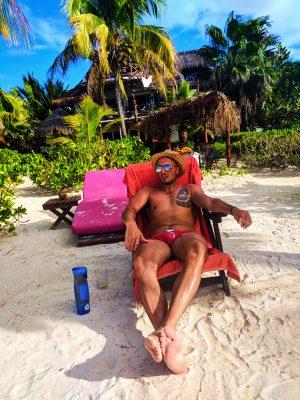 Rob Taylor Relaxing at Villas Flamingos Isla Holbox Yucatan 1