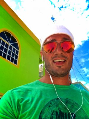 Rob Taylor Running downtown on Isla Holbox Quintana Roo Mexico 1