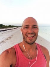 Rob Taylor Running on beach on Isla Holbox Quintana Roo Mexico 1