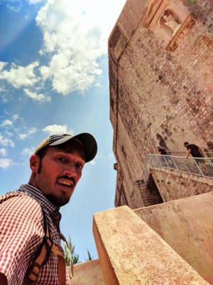 Rob Taylor climbing to Fort Lovrijenac Dubrovnik Croatia 3