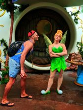 Rob Taylor with Tinkerbell in Disneyland Anaheim California 1