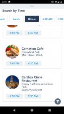 Disneyland App Dining