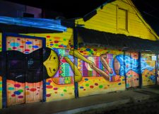 Street Art Downtown Holbox at Night Isla Holbox Yucatan 3
