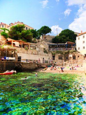Swimming cove below Fort Lovrijenac Dubrovnik Croatia 1