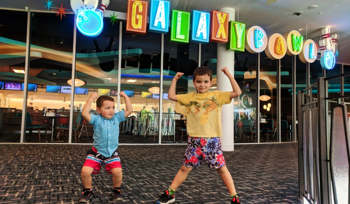 Taylor Family at Galaxy Bowl at Universal Cabana Bay Resort Orlando Florida 19