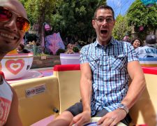 Taylor Family on Teacups Fantasyland Disneyland Anaheim California 1
