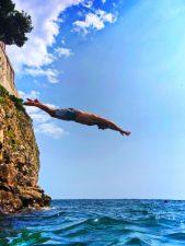 Tom Swimming cove below Fort Lovrijenac Dubrovnik Croatia 2
