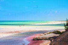View of Colorful Caribbean from Villas Flamingos Isla Holbox 1b