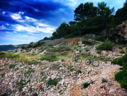 Chris Taylor riding bikes in Vis Croatia 3