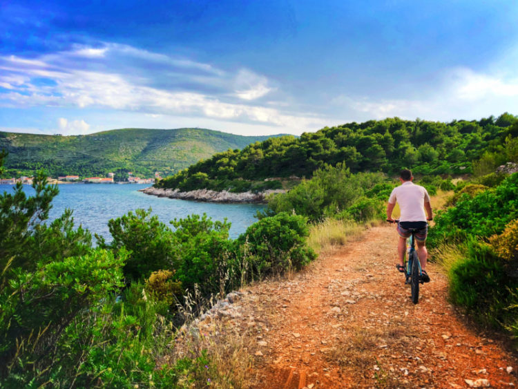 Chris Taylor riding bikes in Vis Croatia 5