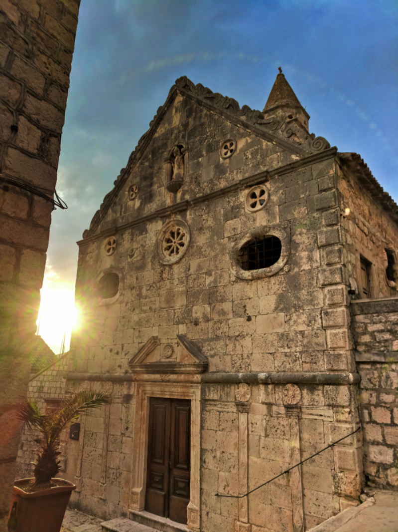 Church of St Justino on hillside Vis Croatia 1