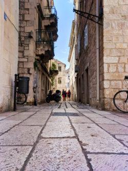 Cobblestone street in Vis Croatia 1