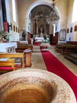 Inside at St Justino Church in Vis Croatia 1