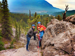 Taylor Family Rock Climbing with Ridgeline Guiding Banff Alberta 1