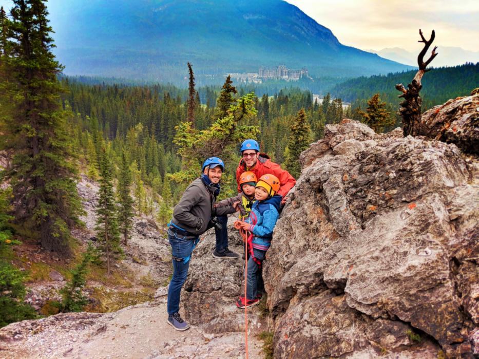 Taylor Family Rock Climbing with Ridgeline Guiding Banff Alberta 1