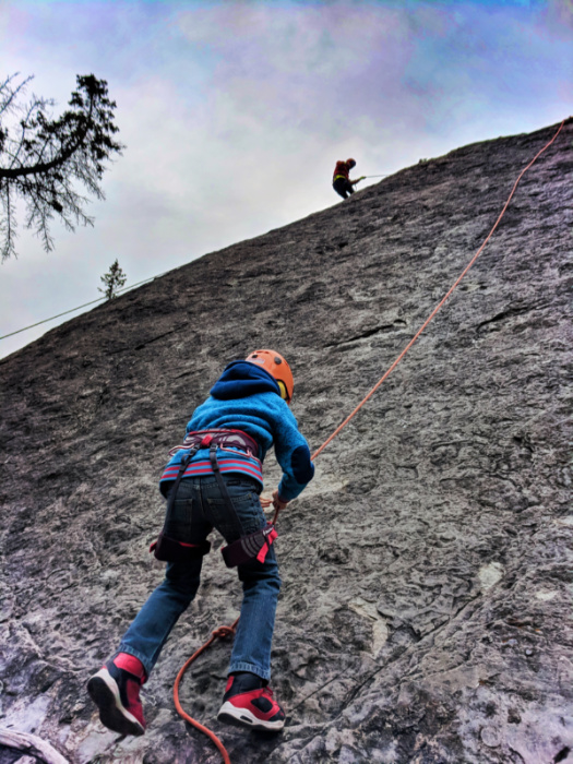 Taylor Family Rock Climbing with Ridgeline Guiding Banff Alberta 13