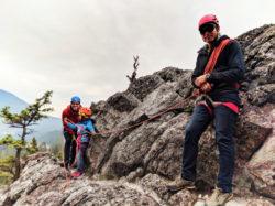 Taylor Family Rock Climbing with Ridgeline Guiding Banff Alberta 19