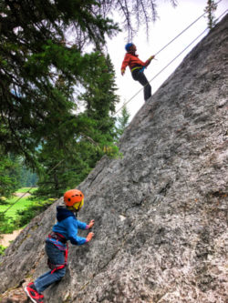 Taylor Family Rock Climbing with Ridgeline Guiding Banff Alberta 4
