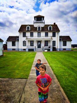 Taylor Family at Westport Maritime Museum Westport Washington Coast 2