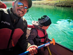 Taylor Family canoeing with Kananaskis Outfitters Canmore Alberta 12