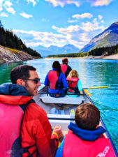 Taylor Family canoeing with Kananaskis Outfitters Canmore Alberta 13