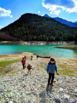 Taylor Family canoeing with Kananaskis Outfitters Canmore Alberta 4