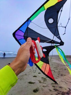 Taylor Family flying kites at Westport Light State Park Westport Washington Coast 4