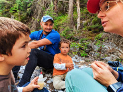 Taylor Family hiking to Grotto Canyon with Earth & Pine Outdoors Canmore Alberta 12