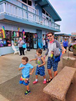 Taylor Family in Marina in Downtown Westport Washington Coast 10